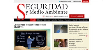 Seguridad y Medio Ambiente : revista de la Fundación MAPFRE. Donación. +info, fondos: http://encore.fama.us.es/iii/encore/record/C__Rb1984459?lang=spi || Web de la revista. Acceso abierto: http://www.mapfre.com/fundacion/html/revistas/seguridad/n000/es/numeros-publicados.html
