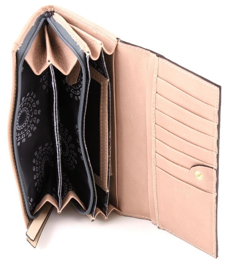 Abro Nappa señoras billetera de cuero aumentó 18,5 cm - 25145-45-68 | Diseñador Marcas :: wardow.com