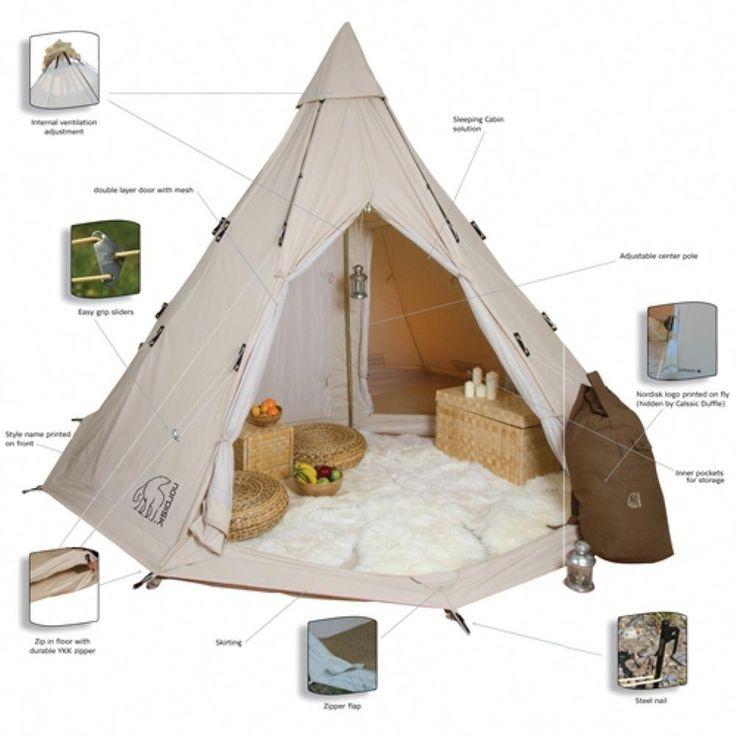 tent camping storage ideas #Tentcamping   Tente safari ...
