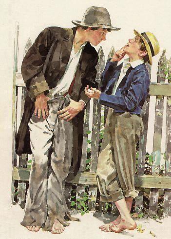 Tom Sawyer and Huck Finn