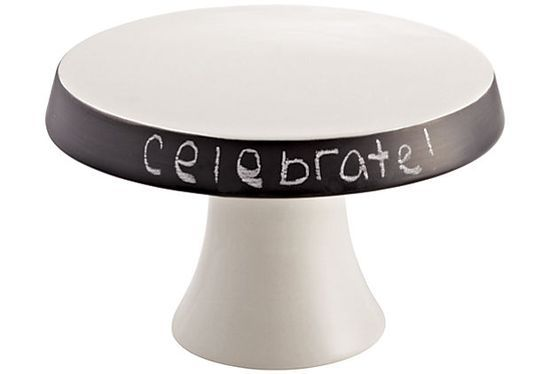Cake Pedestal W/ Chalkboard Rim. I Can Definitely Make This!
