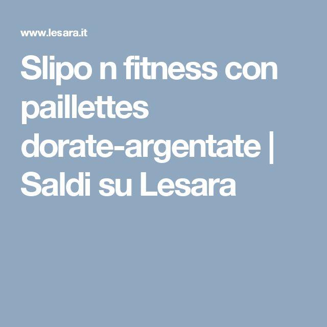 Slipo n fitness con paillettes dorate-argentate | Saldi su Lesara
