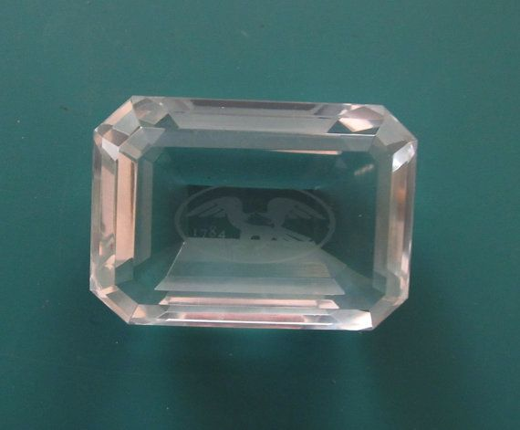 Tiffany & Co. Bank of Boston Etched by RiverStonesFiberArts #Tiffany #BankBoston #paperweight