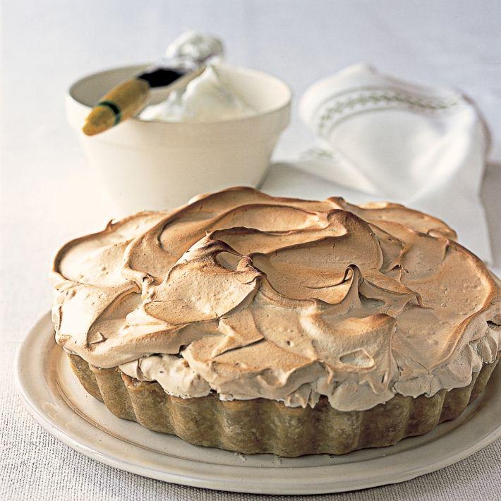 A picture of Delia's Pile-it-high Orange and Rhubarb Meringue Pie recipe