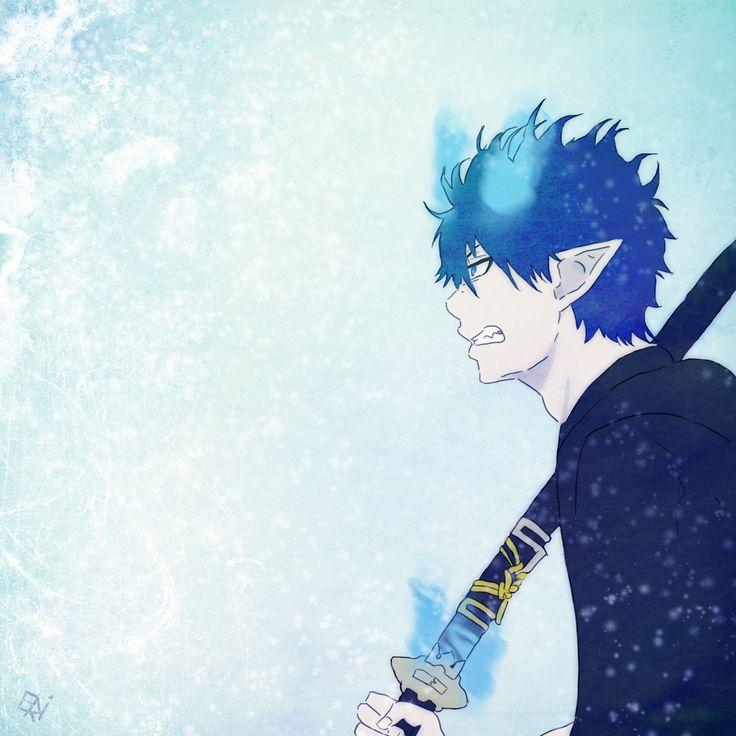 Fanart rin okumura ao kein exorzist blau exorzist kurikara digital art anime art d …