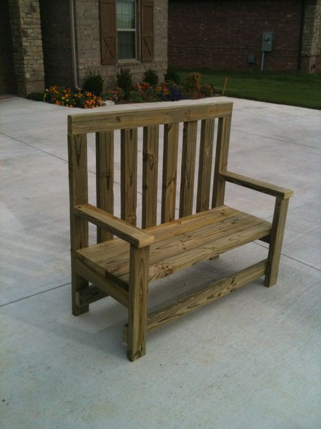 102 Best Images About Deck Bench Plans On Pinterest