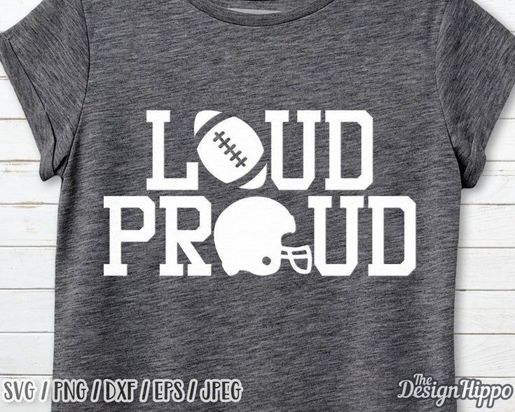 Loud and proud svg Loud and proud football mom svg Proud