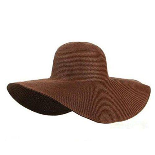 Aolevia Chapeau de Paille Femme – Chapeau de Plage idéal pour Vacances: Matériel : PP 7 couleurs à choix Tour :57cm Emballage par boîte de…