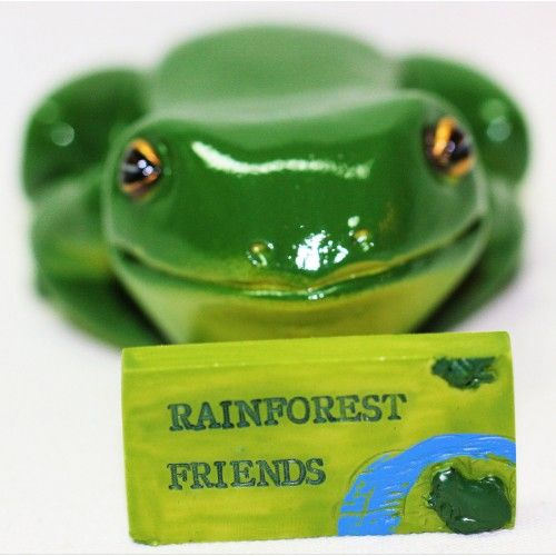 Miniature Green Tree Frog Sitting Lazily   $4.49  In stock