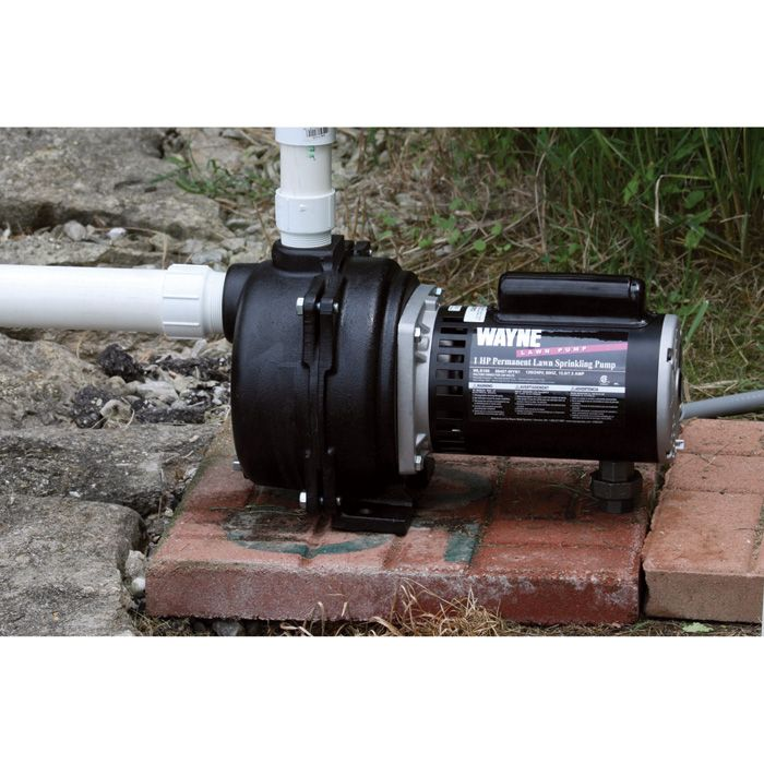 The Wayne Cast Iron Lawn Sprinkler Pump is built to give you many years of dependable pumping service. Designed to operate underground sprinkling systems, draw water from well, lake or ponds for watering, pool filling, or any other applications where high water volume is needed. Can be used as a portable sprinkler or water transfer pump. Pump should be installed in a basement, garage, tool shed or pump house.