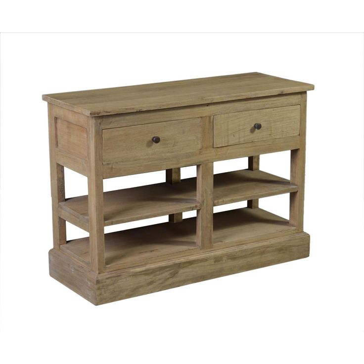 The Cedaredge is hand crafted from rubber tree wood that gives it a natural brown color. The sideboard features three large drawers for storage room, while adding an antique touch to your home decor.