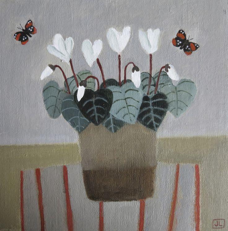 Cyclamen & Butterflies