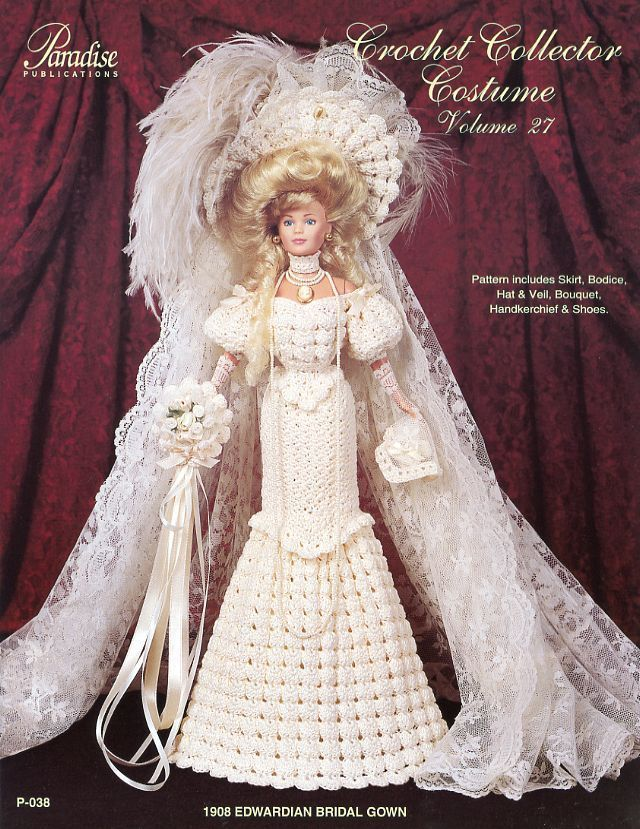 1000+ ideas about Barbie Crochet Gown on Pinterest American Doll Clothes, C...