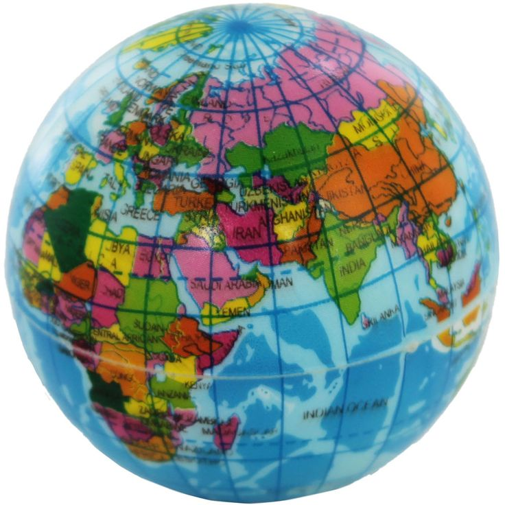 World Map Ball £1 The Works