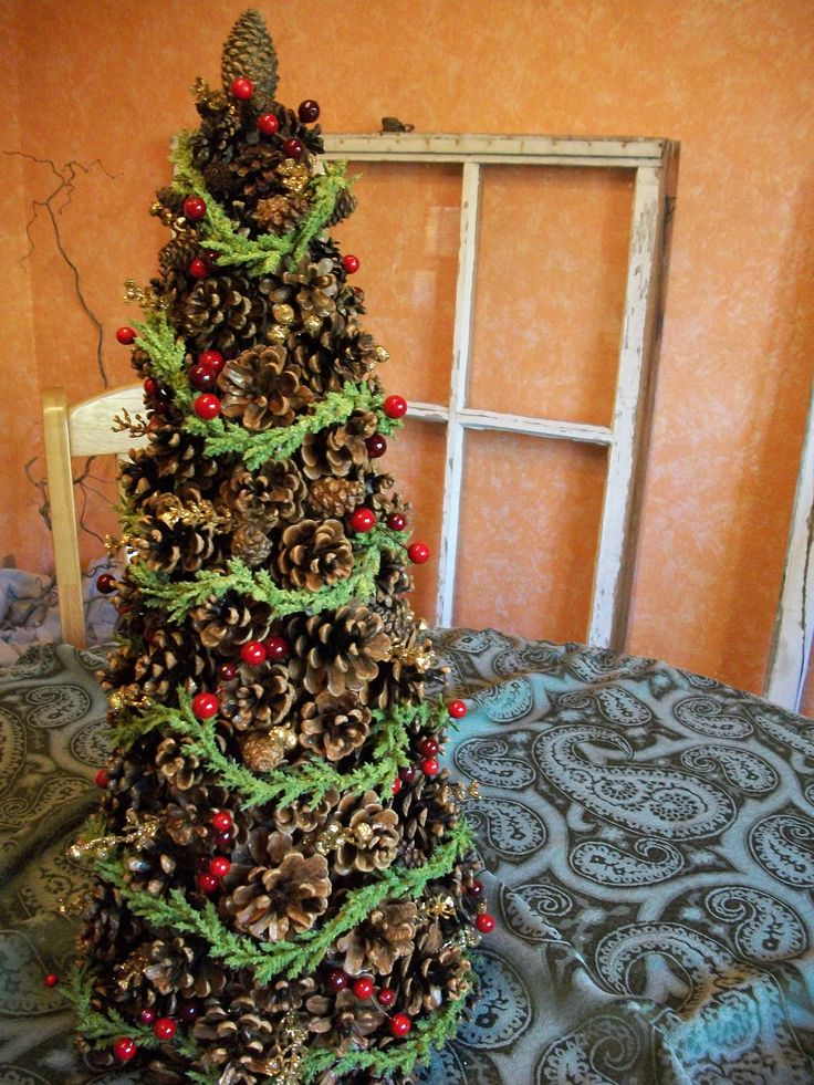 88 best pine cone crafts images on pinterest pine cones for Decorating pine cones for christmas tree
