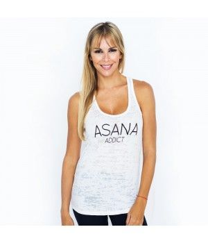 Asana Addict Burnout Tank Model Águeda López Clothes by Funky Yoga