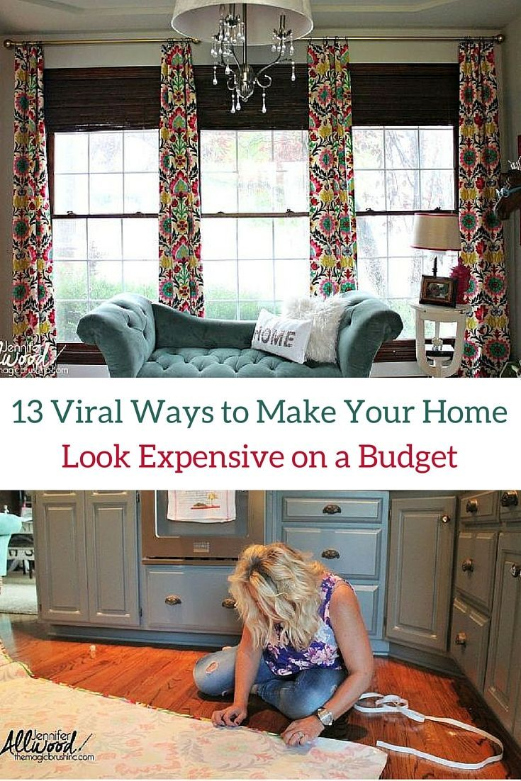 how to make your house look nice on a budget