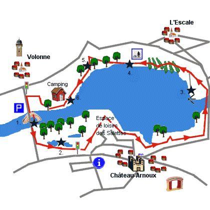 Tour du lac de Volonne - Balade à Volonne