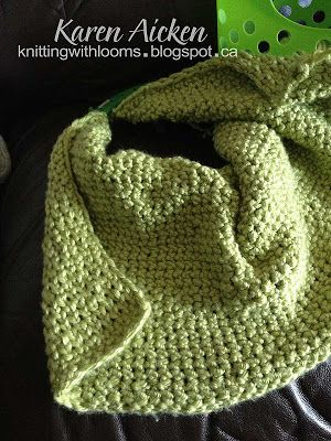 Knitting With Looms: Baby Blanket and Short Poncho