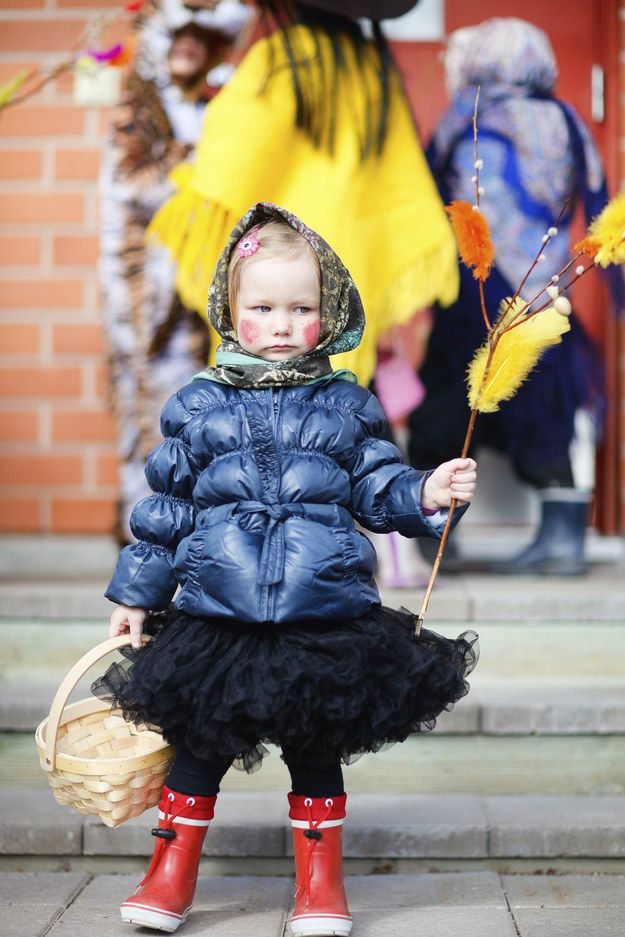Finland - Finns treat Easter like Halloween.  Kids roam around the streets dressed up in costume (usually witch costumes) asking for treats. | 12 Unique Easter Traditions From Around The World