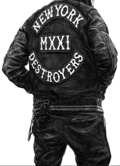 Although a sketch, this is some solid lettering here. One of the few examples of a vest that relies solely on typography.