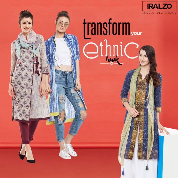Ethnic Look – #Summer #Ethnic #LOOKBOOK Coolness is not an image that can be bought or worn. True cool is an attitude, get this attitude with our #multicoloured kurtis blends harmoniously with the print design, making it a must-have in your wardrobe. Team it up with palazzo and black heels to complete your ethnic look. Click on this link to buy: https://www.iralzo.com/ethnic-wear/Kurtas-tunics