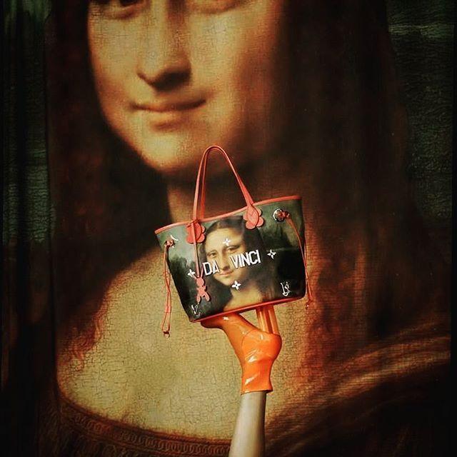 "LOUIS VUITTON, Musee Du Louvre, Paris, France, ""Masters by Louis Vuitton and Jeff Koons"", for Leonardo Da Vinci, pinned by Ton van der Veer"