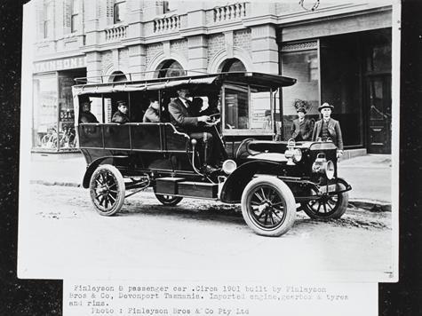 Photograph - Finlayson Bros & Co, Eight Passenger Motor Car, Devonport, Tasmania, circa 1901
