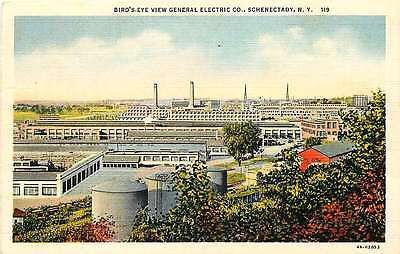 Schenectady New York NY 1934 General Electric Company Antique Vintage Postcard