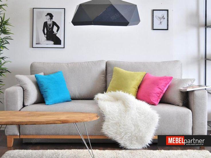 Sofa rozkładana STOCKHOLM skandywnaski styl mebel-partner.pl - Mebel-Partner.pl