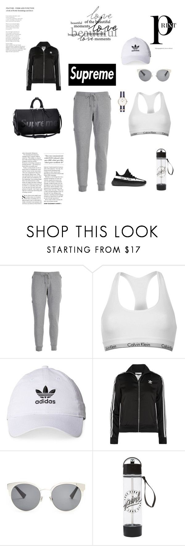 """""""Work hard play hard 💪🏻"""" by afrahsaud ❤ liked on Polyvore featuring Woolrich, Calvin Klein, adidas, adidas Originals, Christian Dior, Louis Vuitton, sport, supreme and statementcoats"""