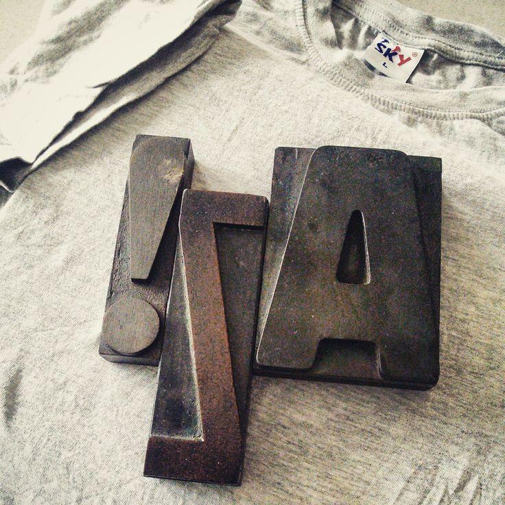 #tshirt #lovely #letterpress #marcocampedelli #experimental #blocks #woodtype #woodblocks #lettering #ideas #paper #mistakes #expo2015 #expoitalia2015