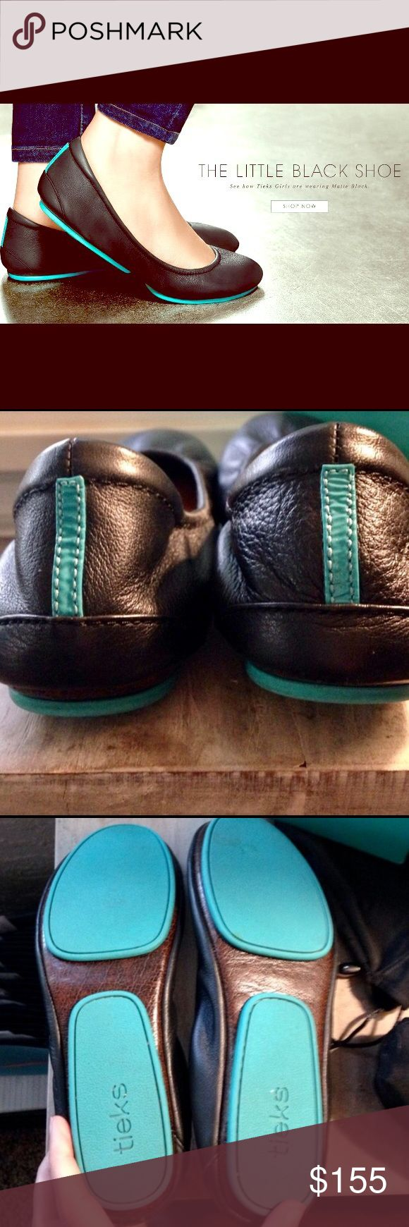 Black Leather Tieks Classic Tieks in black & EUC! Worn a few times, but just not for me. Comes with original box, bags & flower! Price firm unless bundled! Tieks Shoes Flats & Loafers