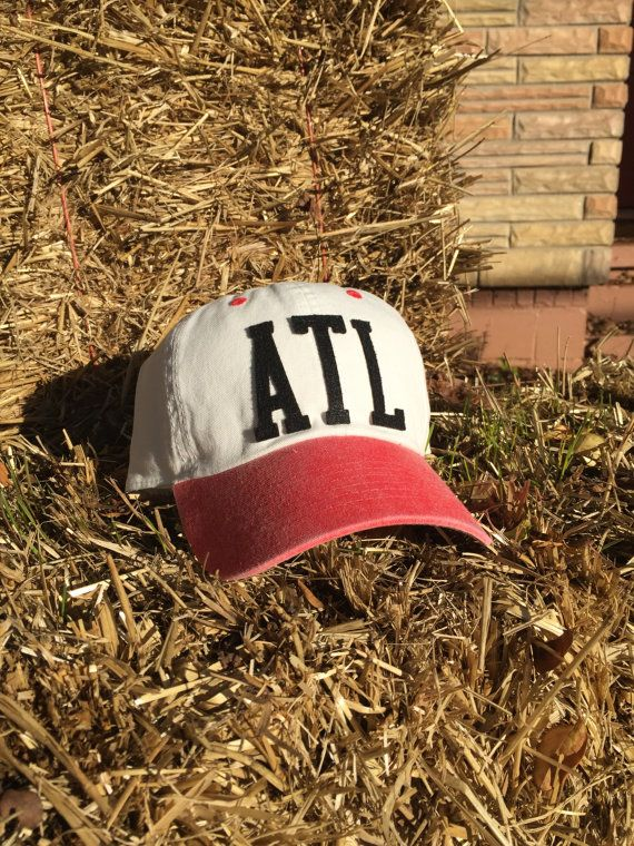 Airport Code, City Pride, Atlanta Falcons, Georgia Bulldogs, Atlanta GA Handmade Baseball Hat With Vintage Inspired Felt Letters