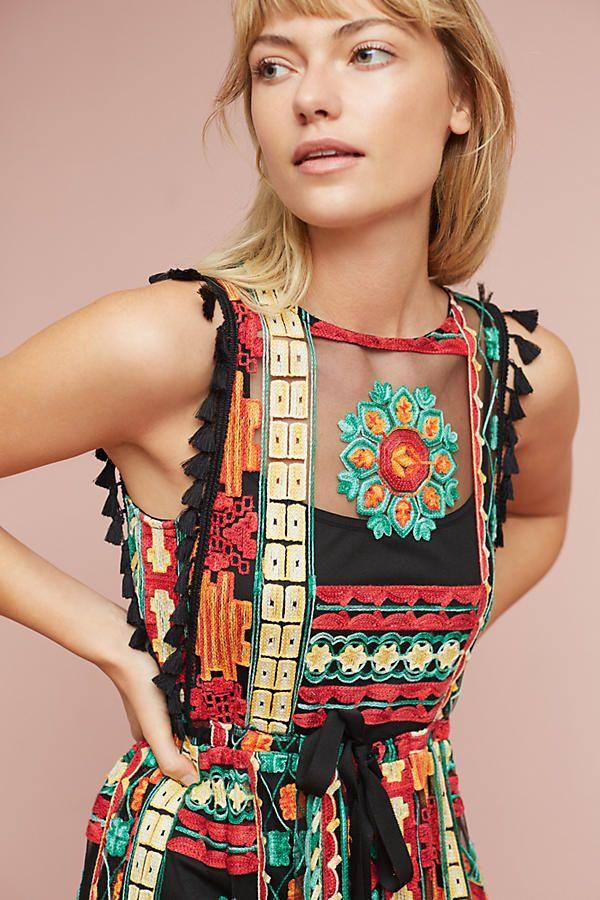Anthropologie - Eva Franco Saskia Embroidered Dress