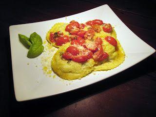 Le mie ricette - Ravioli di patate e coda di rospo, con pomodorini e basilico…