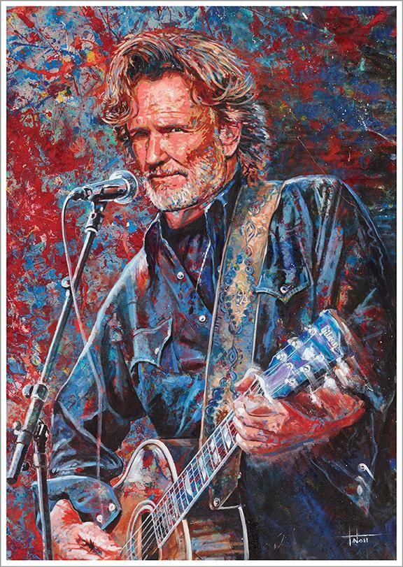 Paintings: Kris Kristofferson by Tom Noll