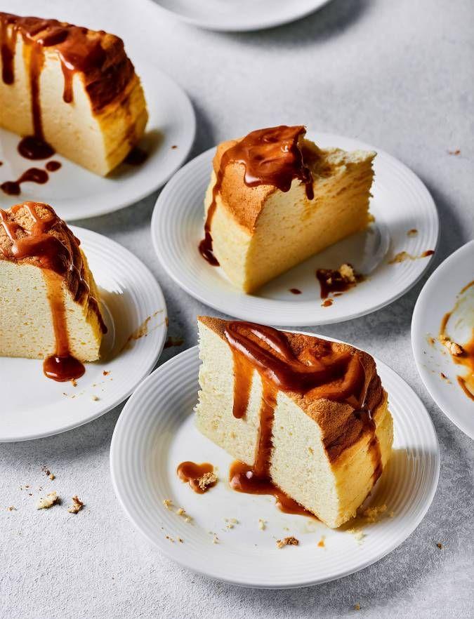 Japanese Cheesecake Recipes, Japanese Desserts, No Bake Desserts, Dessert Recipes, Cotton Cheesecake, Caramel Cookies, Caramel Recipes, Cookies Ingredients, Miniature Food