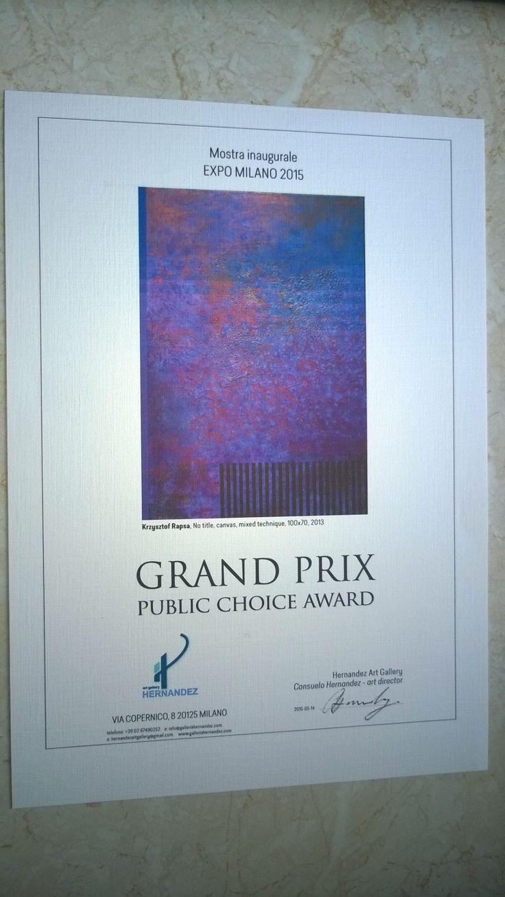 Krzysztof Rapsa - Grand Prix Expo Milano, Galeria Hernandez