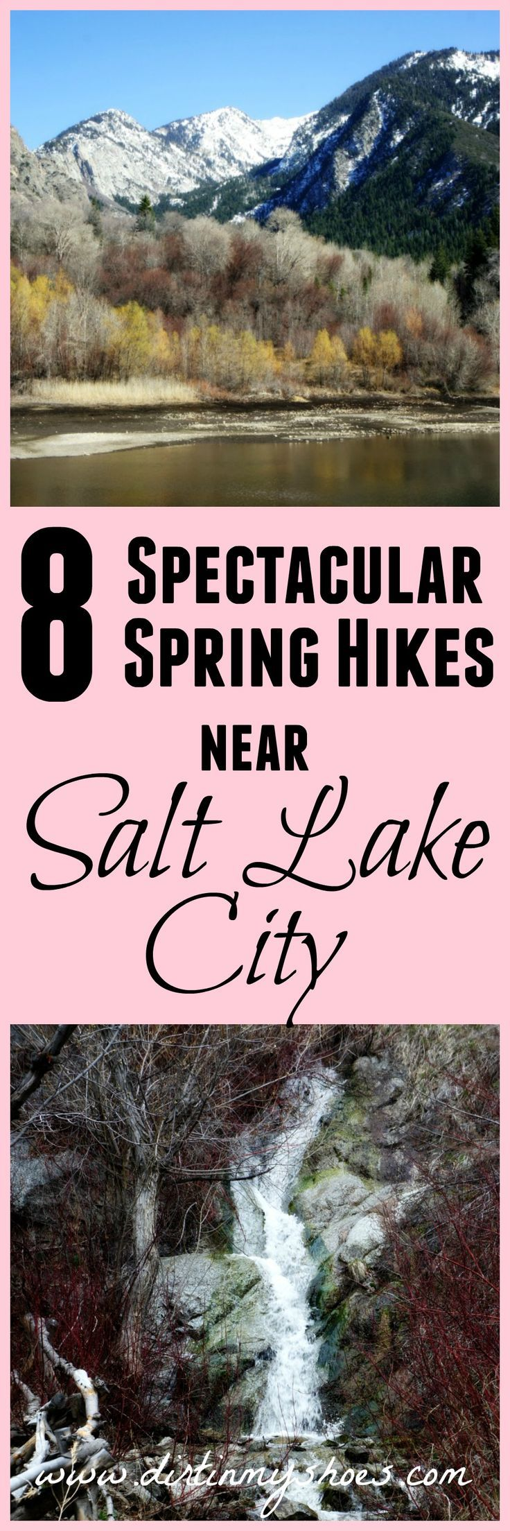 These are the perfect trails to hit up while the canyons are still snowed in! I can't wait to do all 8 -- and there are even some family friendly ones too! 8 Spectacular Spring Hikes Near Salt Lake City, Utah.