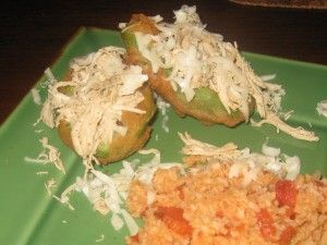 Fried Avocados stuffed with Chicken and Monterey Jack