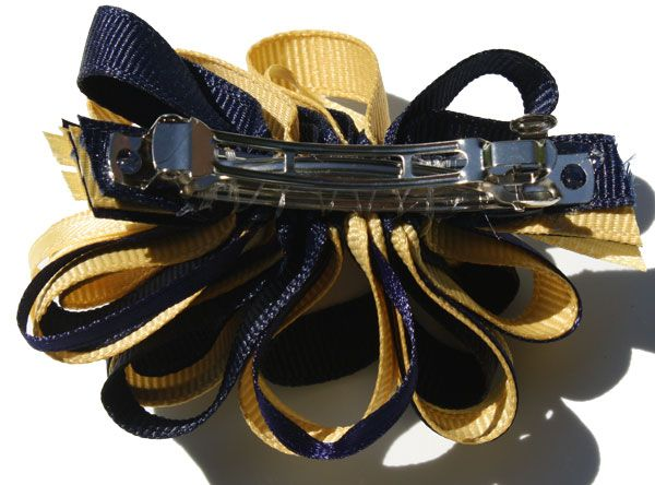 Hair Bow, Blue and Gold on clip | MSU Bookstore