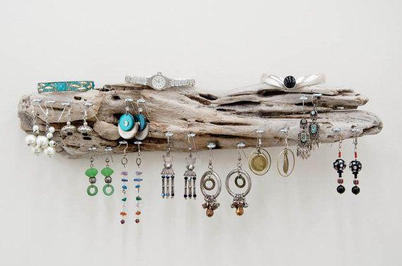Driftwood Jewelry Hanger, Wall Art