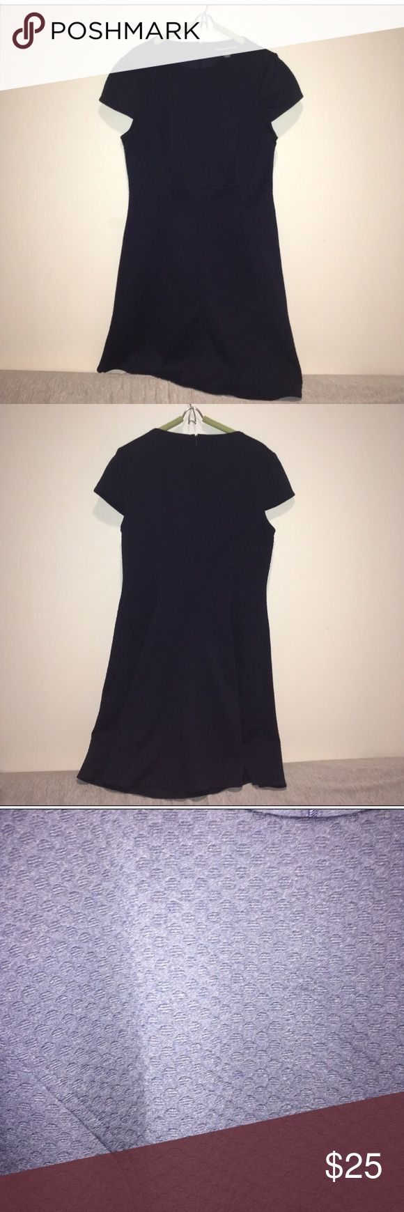 Navy cap sleeve dress A-line dress with cap sleeves. Great dress that can be dressed up or down depending on the occasion American Living Dresses