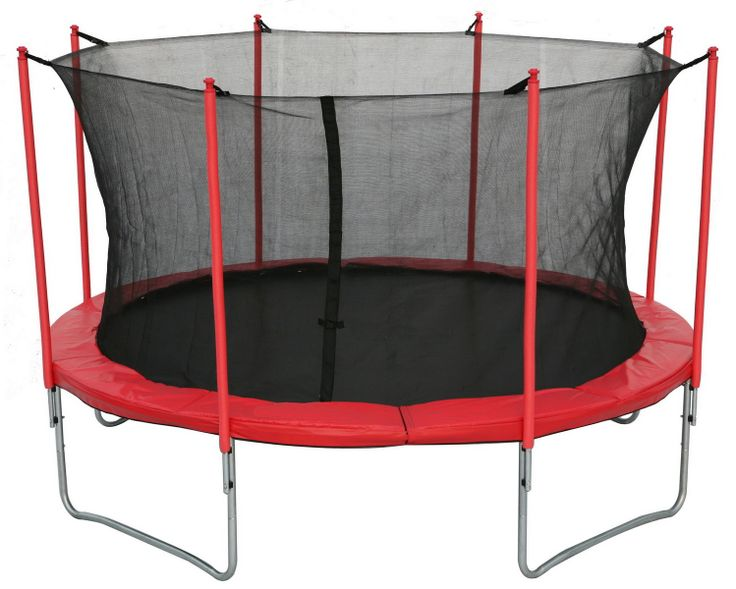 New legs trampoline with inside safety net