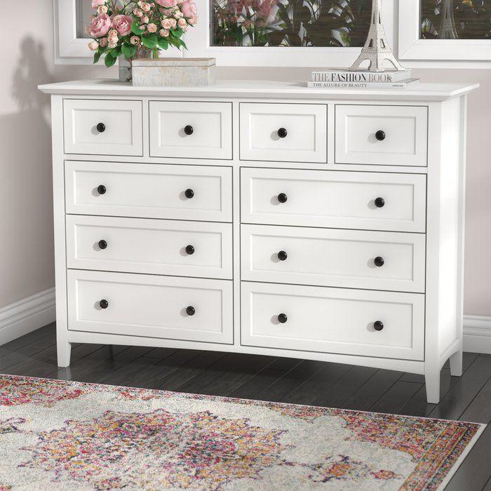 Calila 8 Drawer Double Dresser Furniture White Dresser Bedroom Traditional Furniture