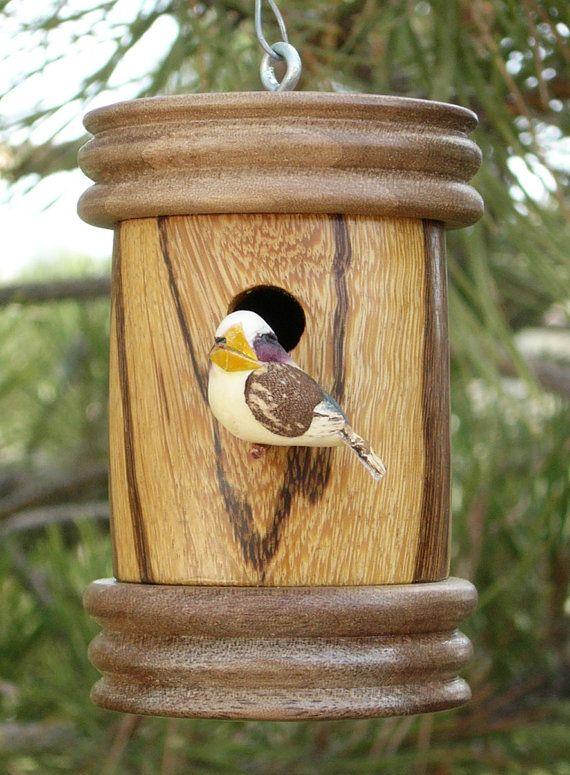 Birdhouse Ornament Wood Turned Mini Birdhouse Wood Turning Home Decor Wooden Ornamental Bird House Christmas Ornament on Etsy, 14,50€