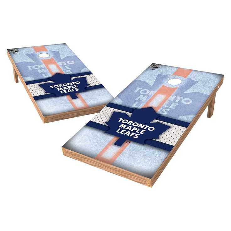 NHL Wild Sports Shield Cornhole Bag Toss Set - 2x4 ft. - Toronto Maple Leafs