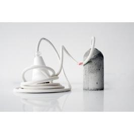 NUD LAMP, CONCRETE & WHITE