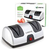 #7: LINKYO Knife Sharpener (Electric) featuring Automatic Blade Positioning Guides  2 Stage Knife Sharpening System